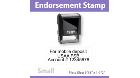 Check Endorsement Stamp - SMALL