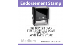 Check Endorsement Stamp - MEDIUM