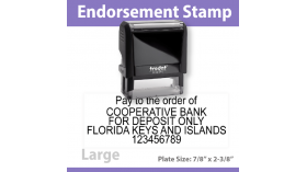 Check Endorsement Stamp - LARGE