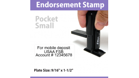 Pocket Endorsement Stamp - SMALL