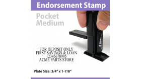 Pocket Endorsement Stamp - MEDIUM