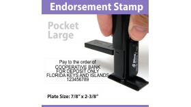 Pocket Endorsement Stamp - LARGE