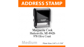 Return Address Stamp - MEDIUM