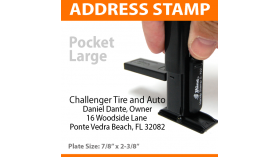 Pocket Address Stamp - LARGE