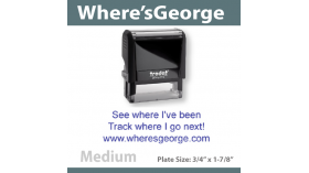 Wheresgeorge Stamp - MEDIUM