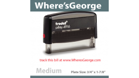 Wheresgeorge one line Stamp