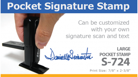 Large Pocket Signature Stamp