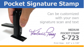 Medium Pocket Signature Stamp