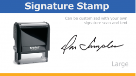 Large Signature Stamp