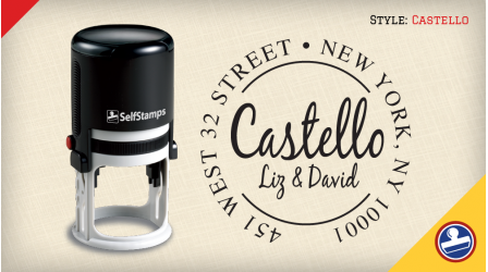 Castello Return Address Stamps