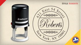 Roberts Return Address Stamps