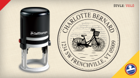 Velo Return Address Stamps
