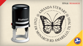 Monarch Return Address Stamps