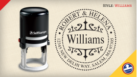 Williams Return Address Stamps