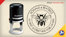 Buzzing Bee Return Address Stamps