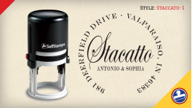 Staccato-1 Return Address Stamps