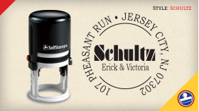 Schultz Return Address Stamps