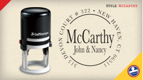 McCarthy Return Address Stamps