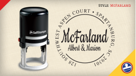 McFarland Return Address Stamps