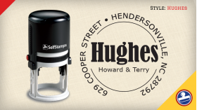 Hughes Return Address Stamps