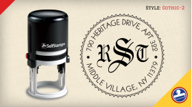 Gothic-2 Return Address Stamps