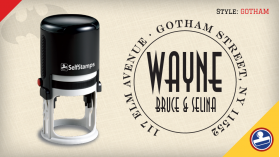 Gotham Return Address Stamps