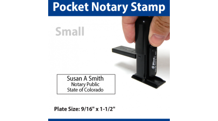Pocket Notary Stamp - SMALL