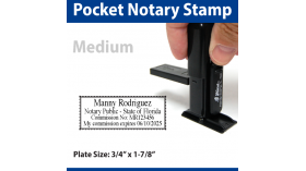 Pocket Notary Stamp - MEDIUM