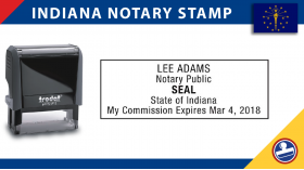 Indiana Notary Stamp