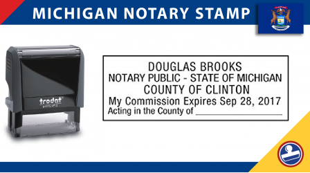Michigan Notary Stamp
