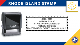 Rhode Island Notary Stamp