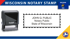 Wisconsin Notary Stamp