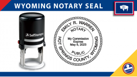 Wyoming Notary Seal