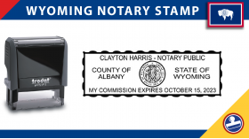 Wyoming Notary Stamp