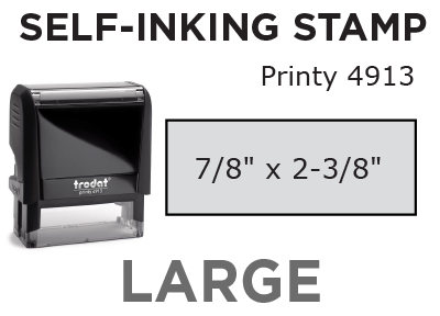Large Self-Inking Stamp