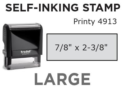 Large Self-Inking Stamp