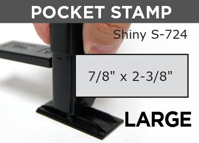 Large Pocket Stamp