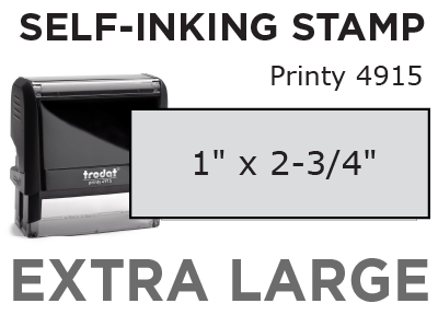 Extra Large  Self-Inking Stamp