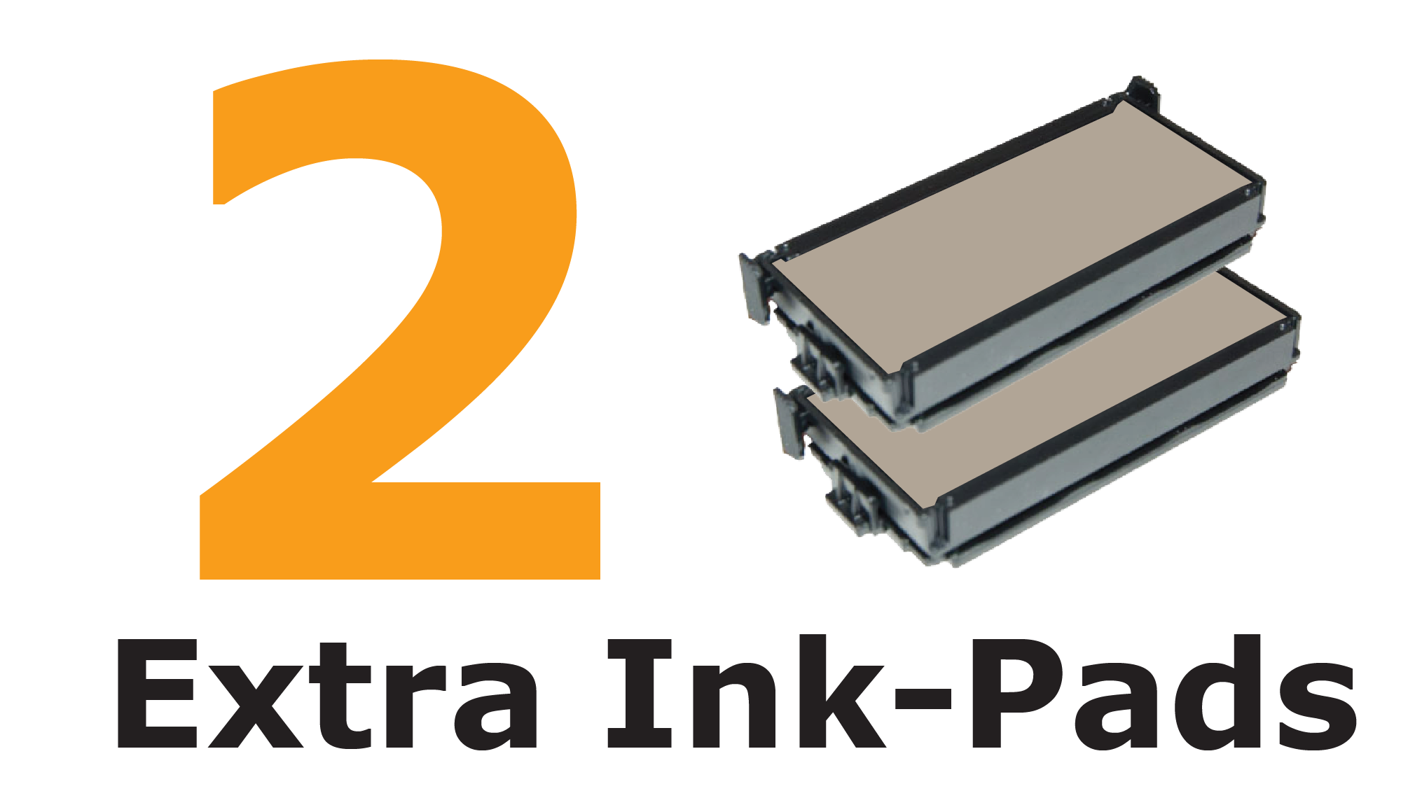 TWO extra ink-pads