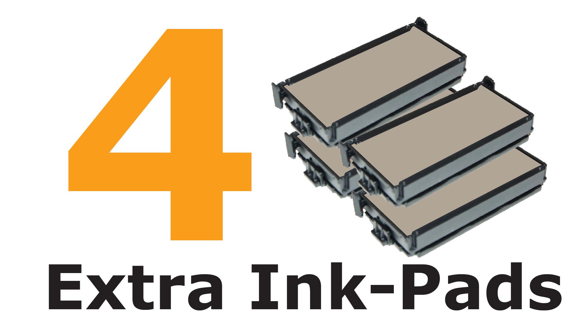 FOUR extra ink-pads